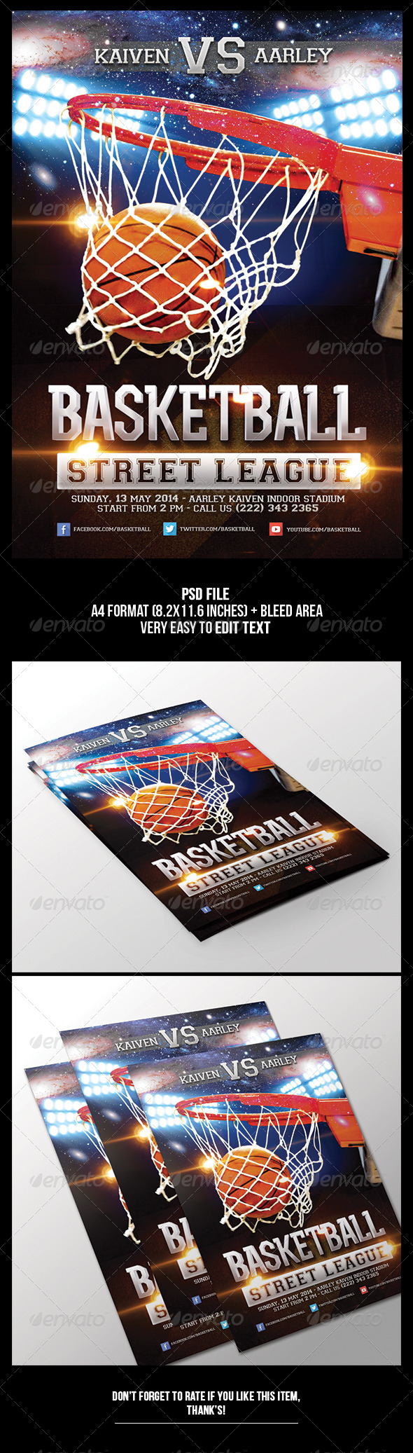GraphicRiver Basketball Game Flyer 6534335