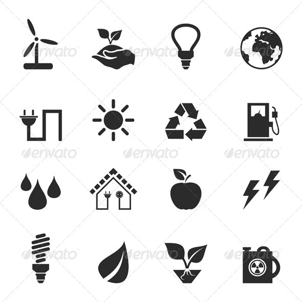GraphicRiver Ecology Icons 2 6534533