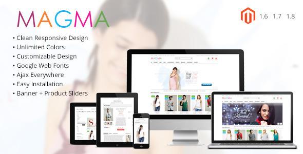 ThemeForest MAGMA Fashion Responsive Magento Template 6534534