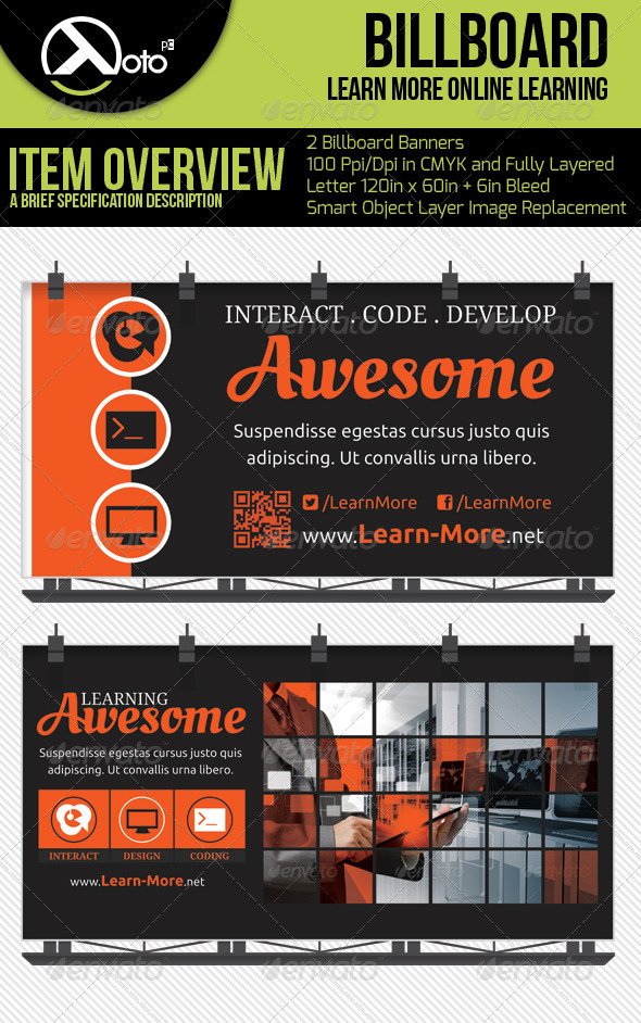 GraphicRiver Learn More Online Learning Billboards 6534538