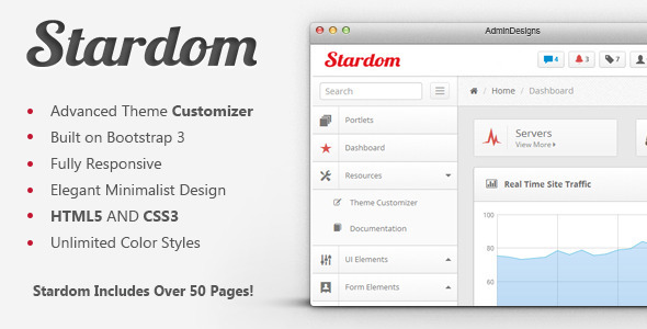 ThemeForest Stardom Bootstrap Admin Dashboard Theme 6534568