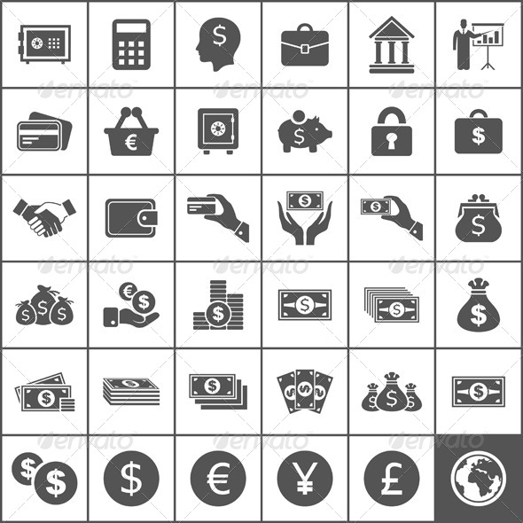 GraphicRiver Money Icons 6534594