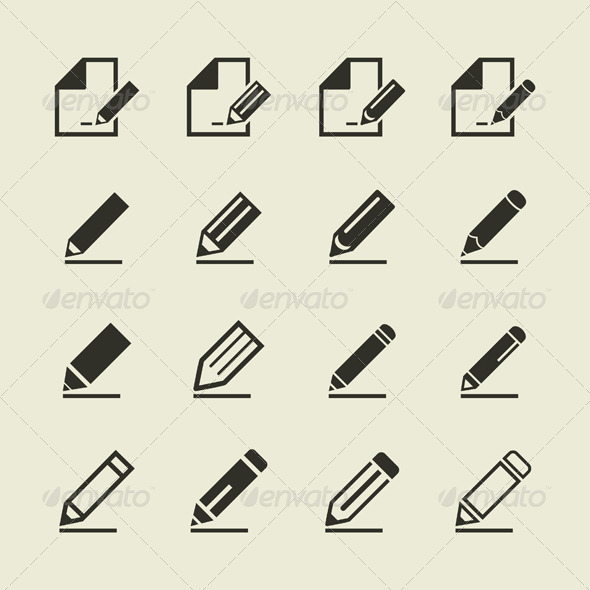 GraphicRiver Pencil Icons 6534612