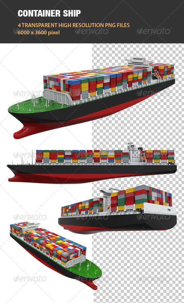GraphicRiver 3D Cargo Container Ship 6534708