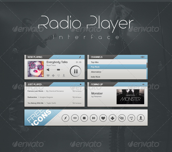 GraphicRiver Radio Player Interface 6534727