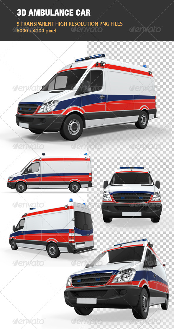 GraphicRiver 3D Ambulance Car 6534792