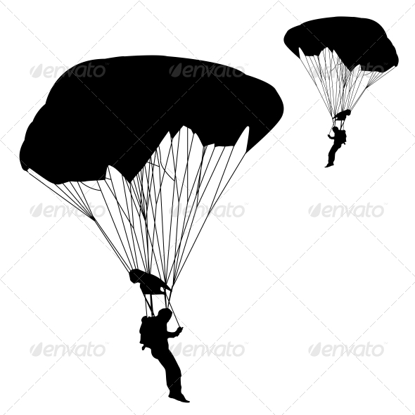 GraphicRiver Jumper Black and White Silhouettes Vector 6534806