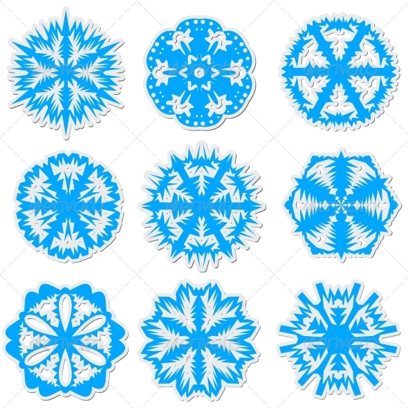 GraphicRiver Set of Snowflakes 6534809