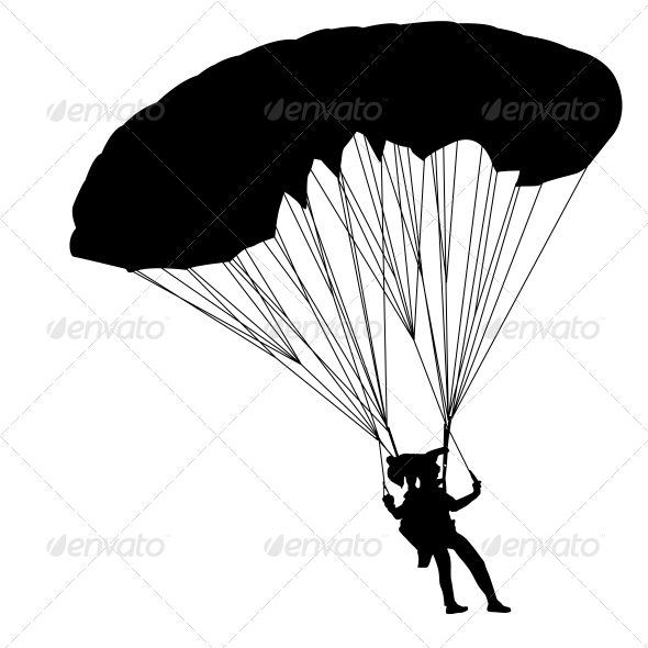 GraphicRiver Jumper Black and White Silhouettes Vector 6534811
