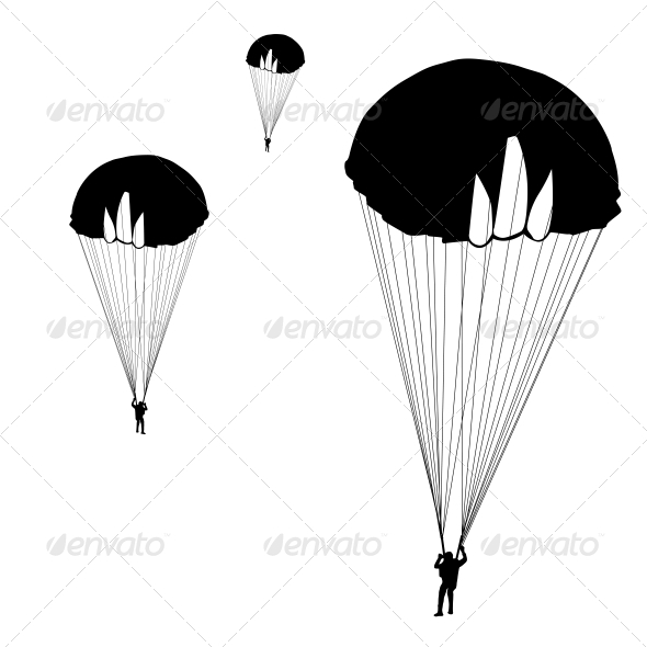 GraphicRiver Jumper Black and White Silhouettes Vector 6534844