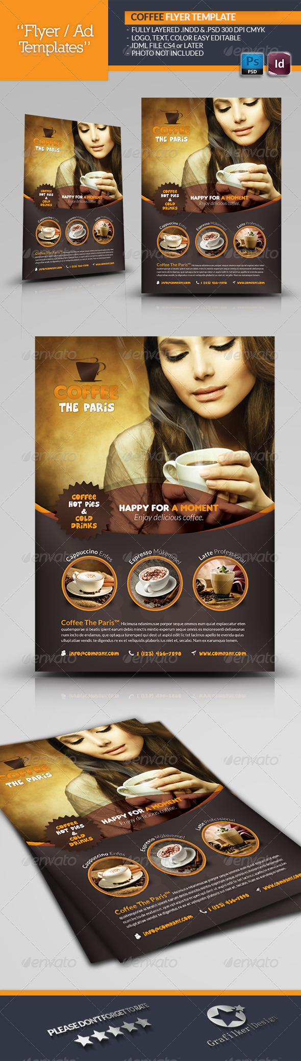 GraphicRiver Coffee Flyer Template 6534957