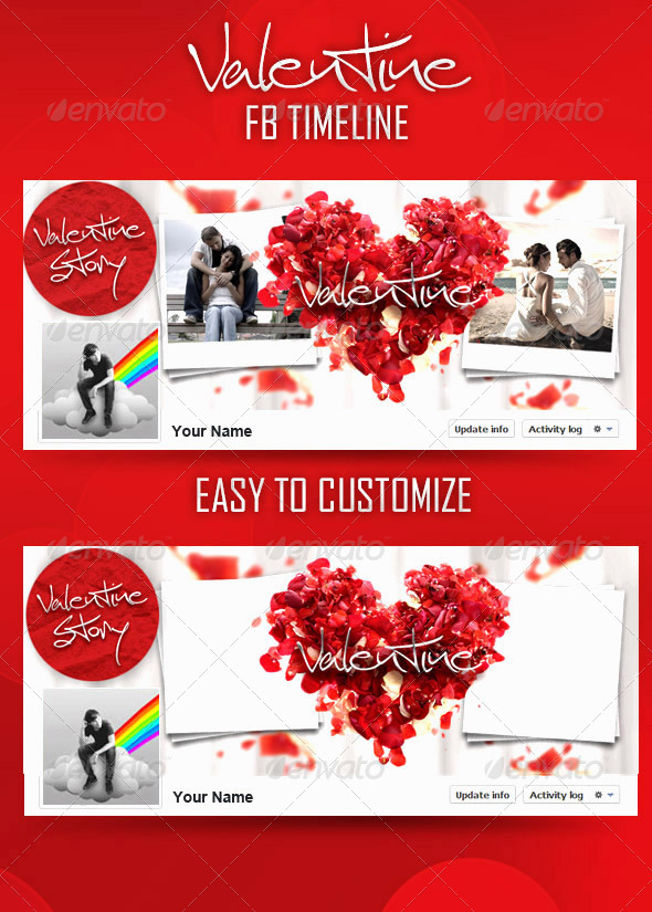 GraphicRiver Valentine FB Timeline 6534990