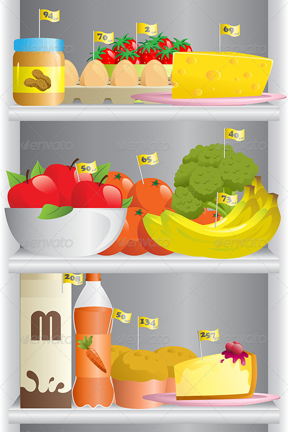 GraphicRiver Food in Refrigerator 6535029