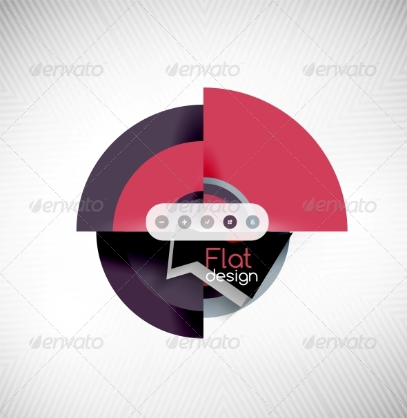 GraphicRiver Circle Geometric Shapes Flat Interface Design 6535044