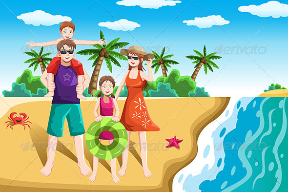 clipart of family vacation - photo #28