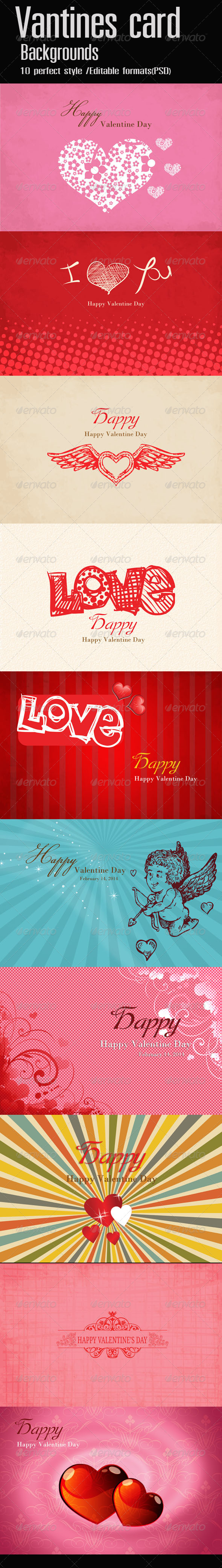 GraphicRiver Valentine Card Backgrounds 6535234