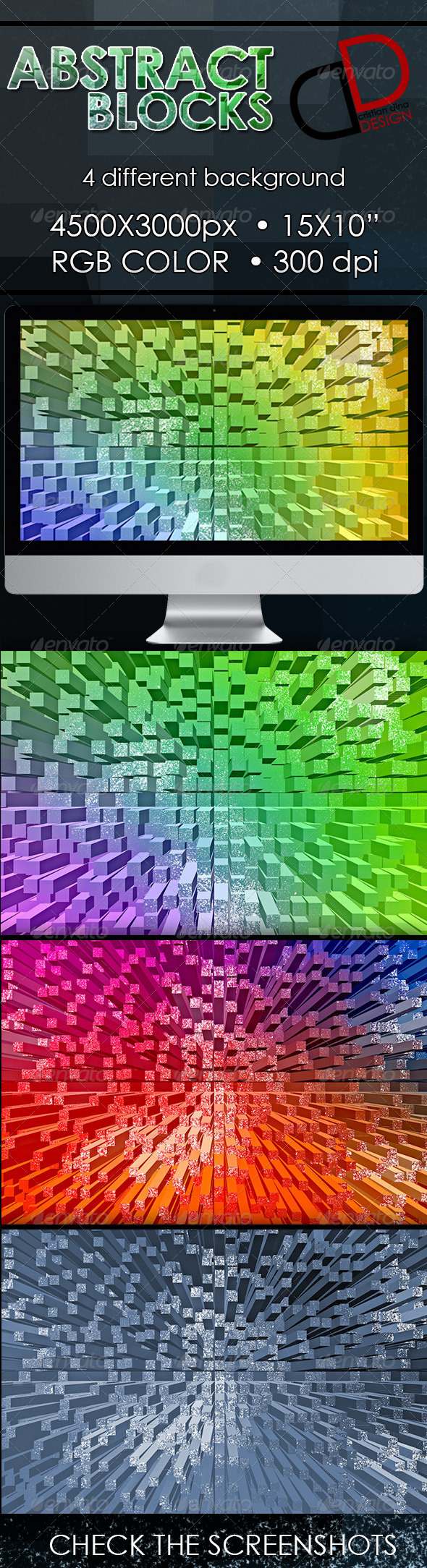 GraphicRiver Abstract Blocks Backgrounds 6535237