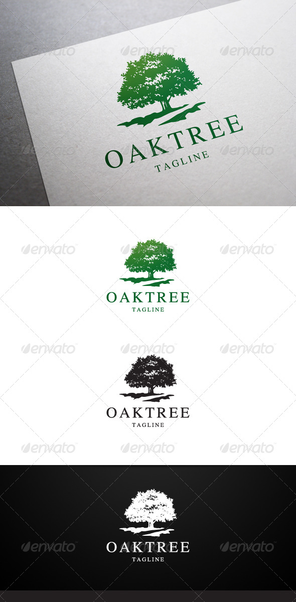 GraphicRiver Oak Tree Logo 6535291