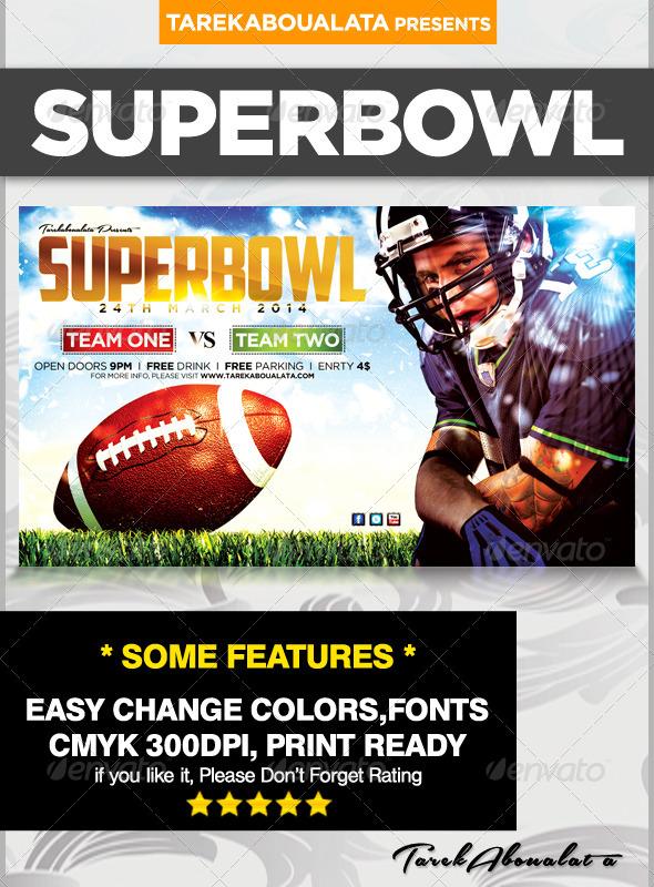 GraphicRiver SuperBowl Flyer Template v.2 6511402