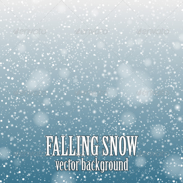 GraphicRiver Falling Snow Blue 6535302