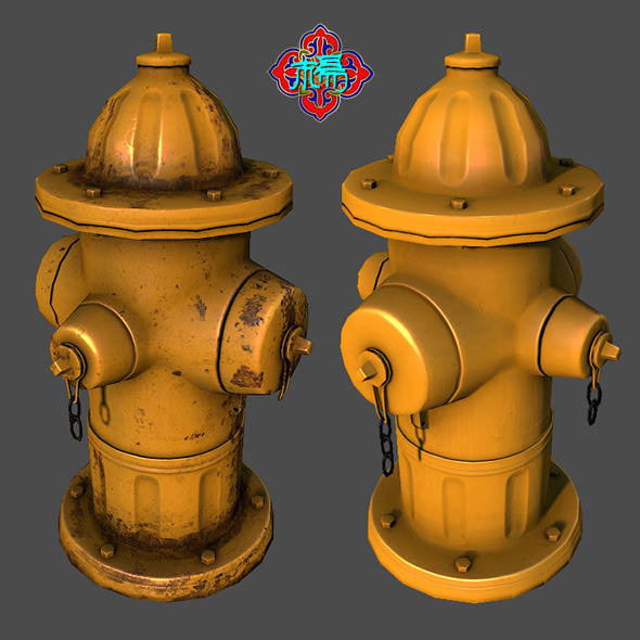Fire Hydrant (Lowploy version) - 3DOcean Item for Sale