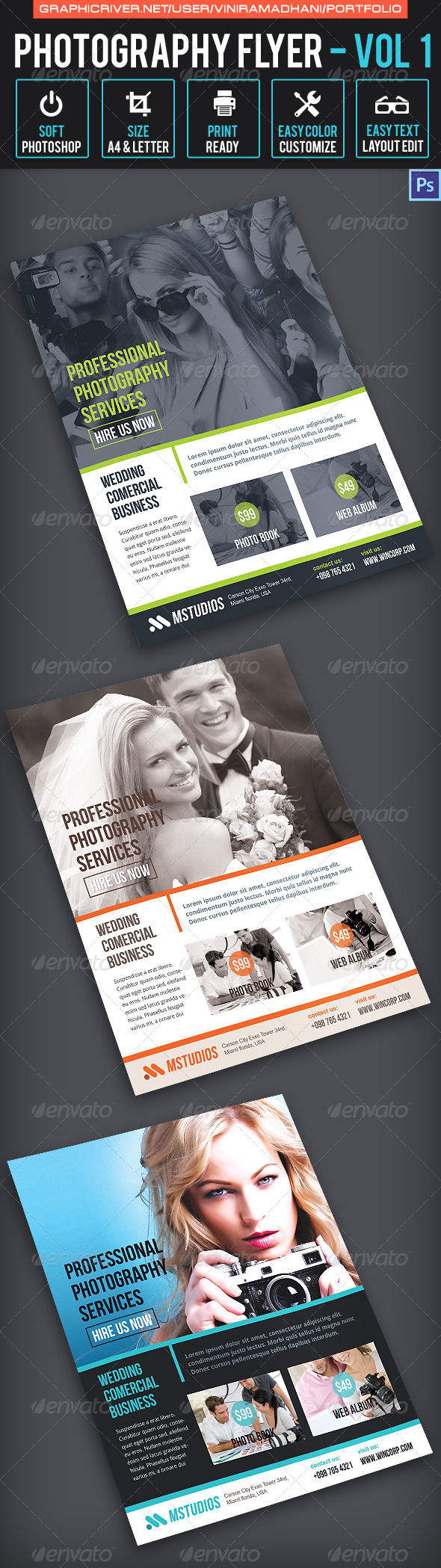 GraphicRiver Photography Flyer Volume 1 6535951