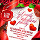 Lovely Valentine Party Flyer Template - GraphicRiver Item for Sale