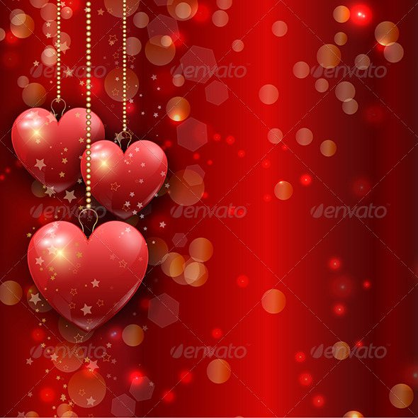 GraphicRiver Valentines Day Heart Background 6536442