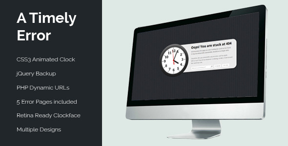 A Timely Error - Animated Clock Error Pack