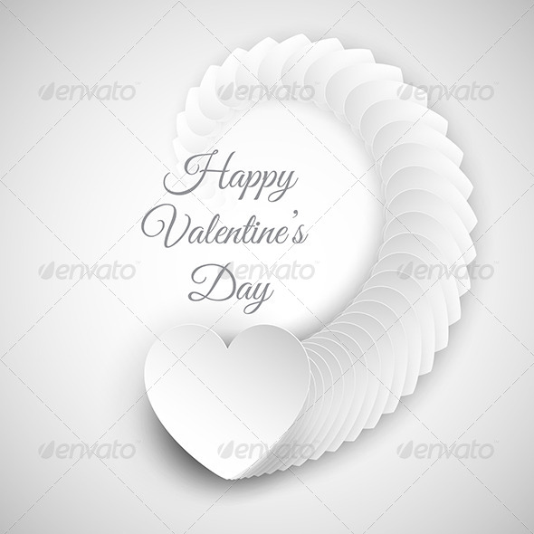 GraphicRiver Valentines Day Heart Background 6536451
