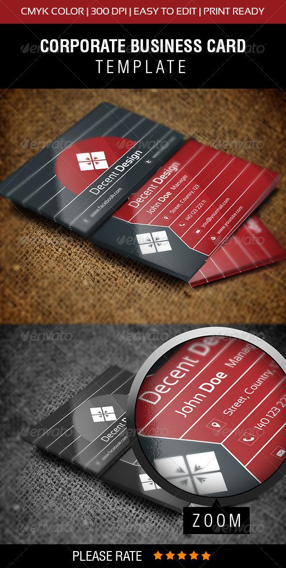 GraphicRiver Decent Design Business Card 6536496