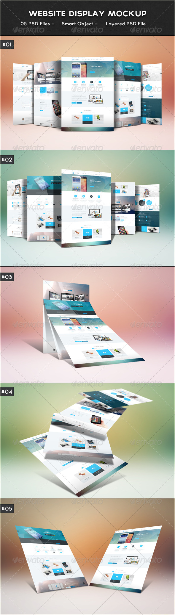 GraphicRiver Website Display Mockup 6536521