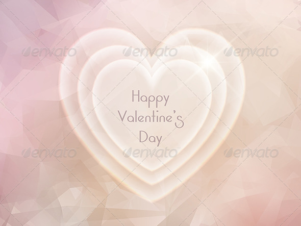 GraphicRiver Valentines Day Heart Background 6536526