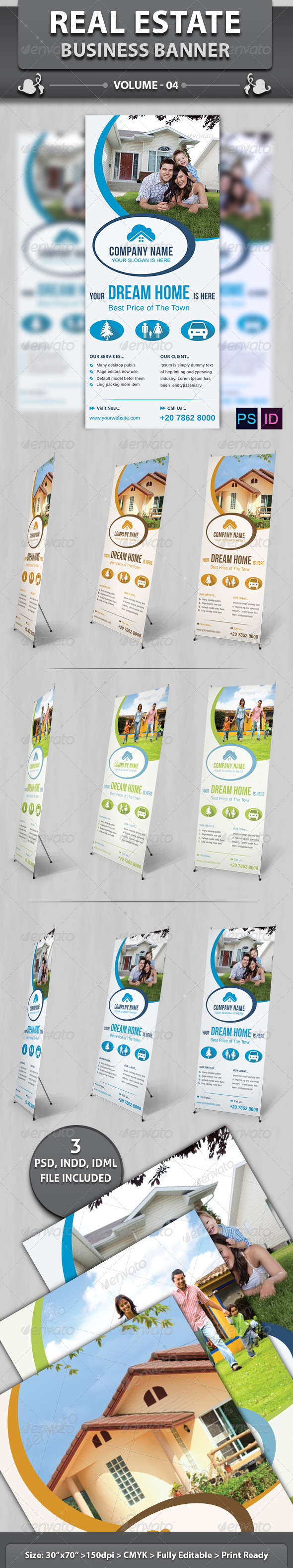 GraphicRiver Real Estate Business Banner Volume 4 6536675