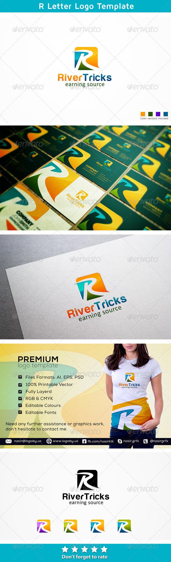 River R Letter - Letters Logo Templates