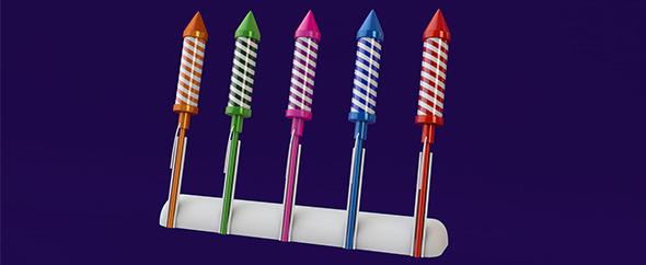 3DOcean 3D Firework rockets 6537003