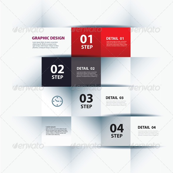 GraphicRiver Vector Business Step Paper Lines and Numbers 6379088