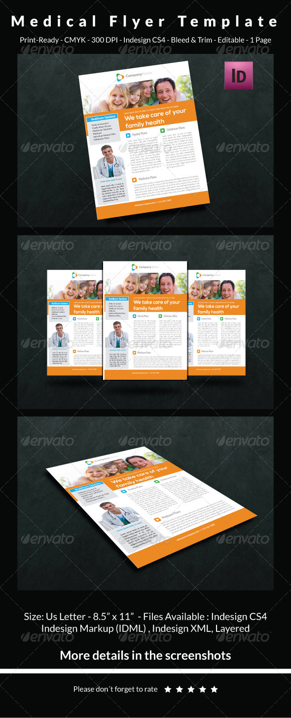 GraphicRiver Medical Flyer Template 6537120
