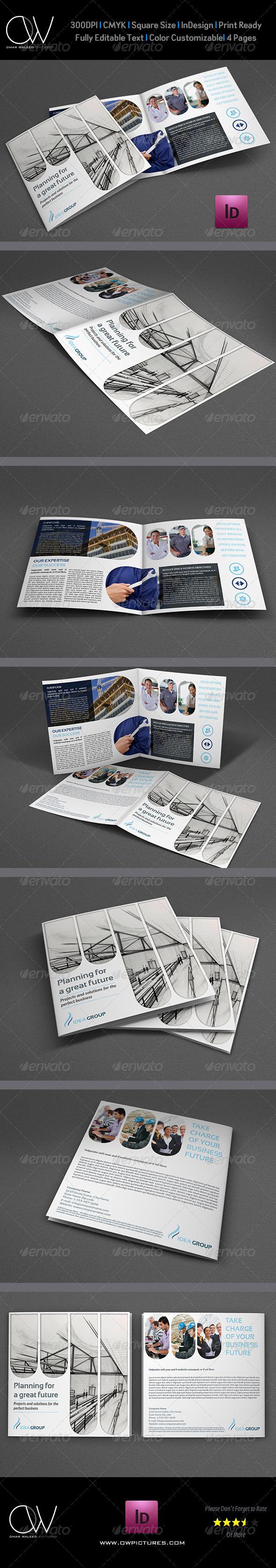 GraphicRiver Company Brochure Bi-Fold Template Vol.15 6537122