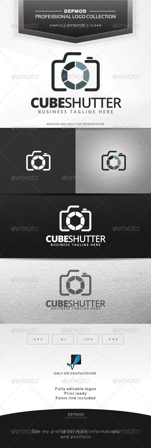 GraphicRiver Cube Shutter Logo 6537124