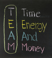 Chalk drawing - TEAM: Time,Energy, And, Money - PhotoDune Item for Sale