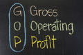 Chalk drawing :GOP, Gross, Operating, Profit - PhotoDune Item for Sale