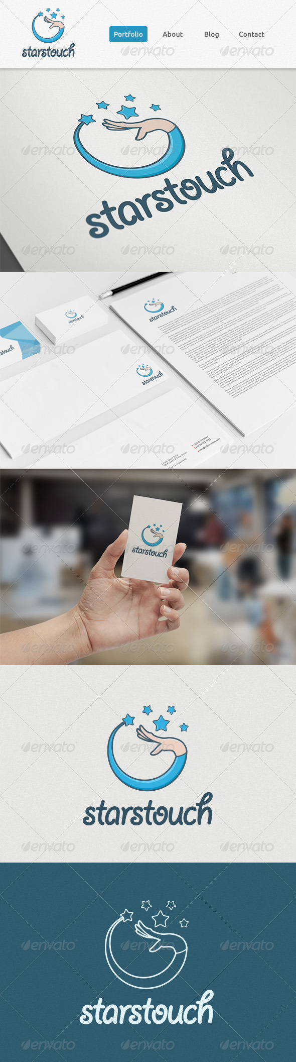 GraphicRiver StarsTouch Logo 6537223