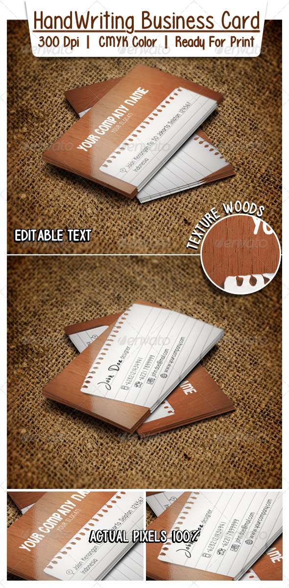 GraphicRiver HandWriting Business Card 6511528