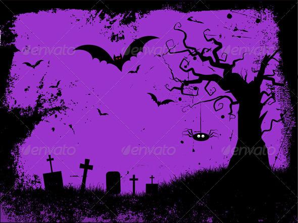 Grunge Halloween Background