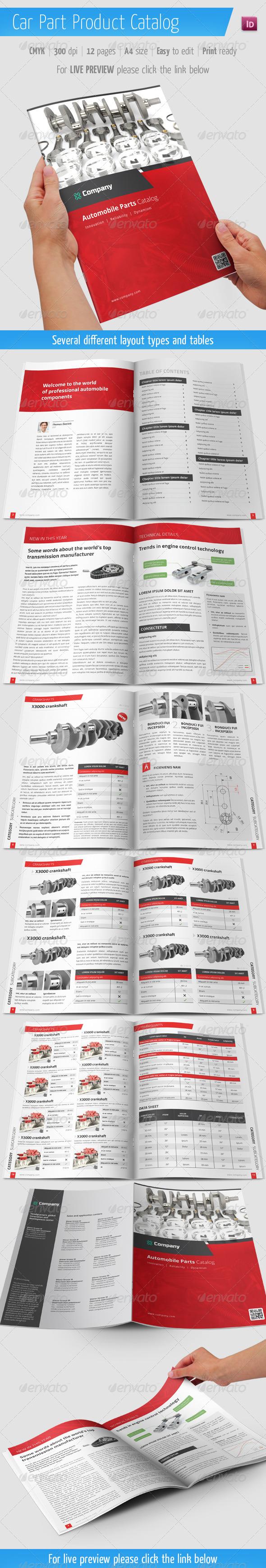 automobile brochure design - print templates car part product catalog automobile