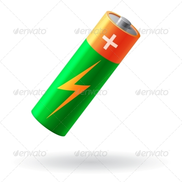 GraphicRiver Battery Realistic Isolated Vector Illustration 6537413