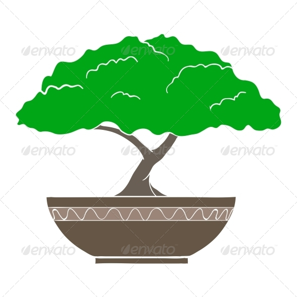 GraphicRiver Illustration of Colorful Bonsai Tree 6537419