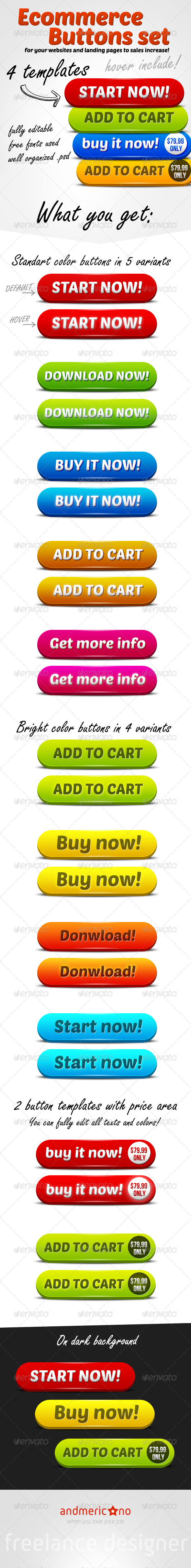 GraphicRiver Ecommerce Big Buttons Set 6537424