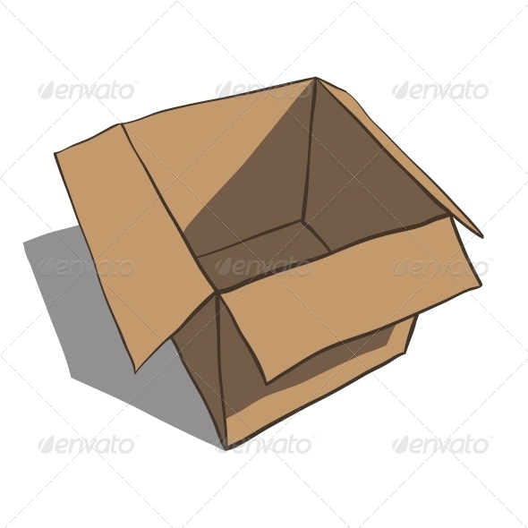 GraphicRiver Open Box Isolated on White Background Cartoon 6537425